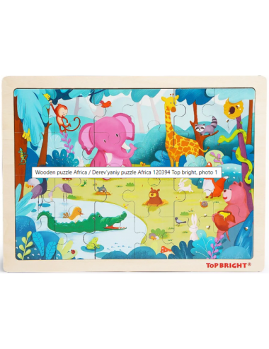 Top Bright Forest Animal Puzzle   120394
