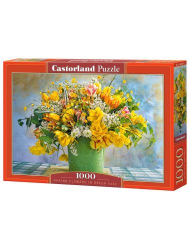 Castorland Spring Flowers In Green Vase 1000 ΚΟΜΜΑΤΙΑ C-104567