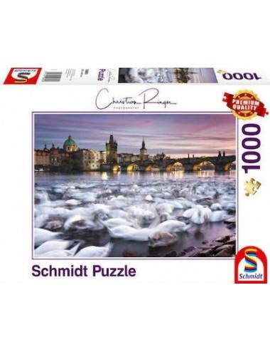 Schmidt  Κύκνοι στην Πράγα   2D 1000pcs 59695