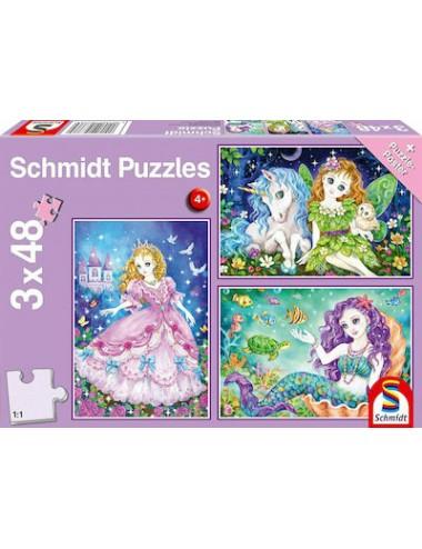 Schmidt Princess, Fairy & Mermaid 3x48pcs  56376
