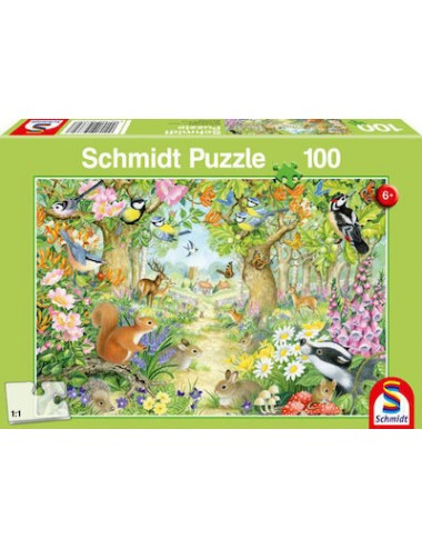 Schmidt Animals in The Forest  100pcs 56370