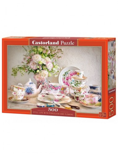 Castorland Still Life With Porcelain And Flowers 500 ΚΟΜΜΑΤΙΑ B-53384