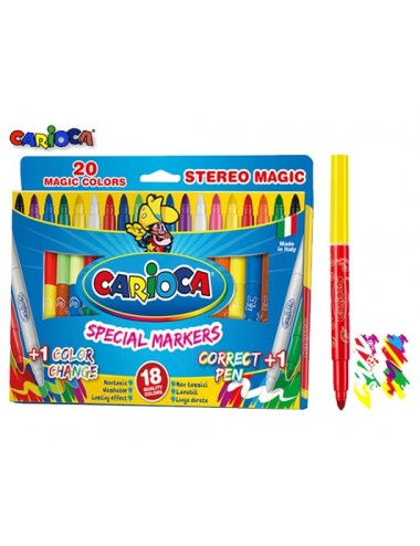 CARIOCA ΜΑΡΚ. 9+9+2ΧΡ. JUMBO MAGIC CAMBIACOLOR