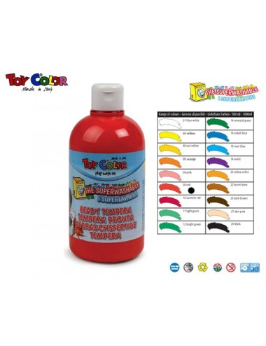 TOY COLOR ΤΕΜΠΕΡΑ 500ml S/WASH. RED