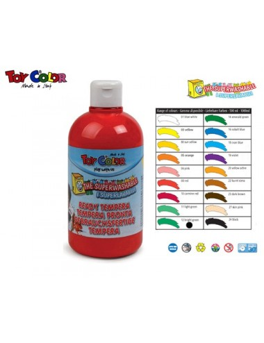 TOY COLOR ΤΕΜΠΕΡΑ 500ml S/WASH. BRIL.GREEN