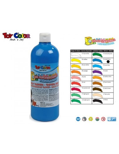 TOY COLOR ΤΕΜΠΕΡΑ 1L S/WASH. COB.BLUE