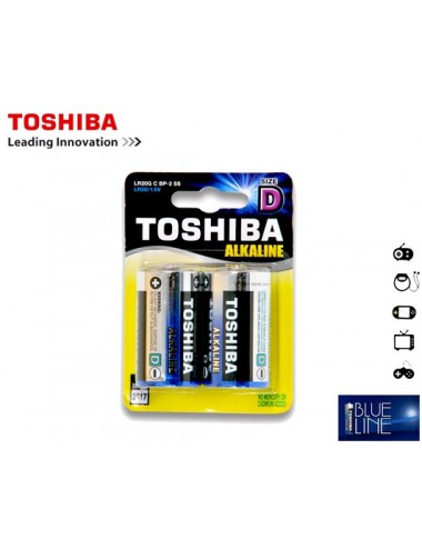TOSHIBA ΜΠΑΤΑΡΙΕΣ LR 20 (D) ALKALΙΝΕ ΧΟΝΔΡΕΣ 2Τ.
