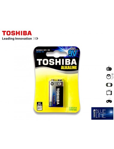 TOSHIBA ΜΠΑΤΑΡΙΑ 6LF22G (9V) ALKALINE ΠΛΑΚΕ 9V