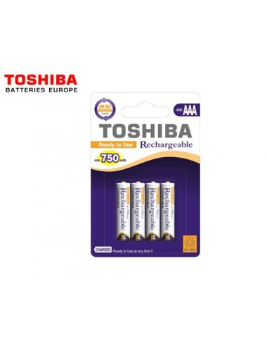TOSHIBA ΜΠΑTAΡΙΕΣ ΕΠΑΝΑΦ. AAA 750mAh BP4 4Τ. ΠΡΟΦ/ΝΕΣ