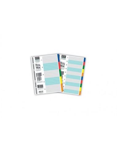 Skag Ευρετήριο Χρωματιστό 17x25 PP 1-10 Φύλλα