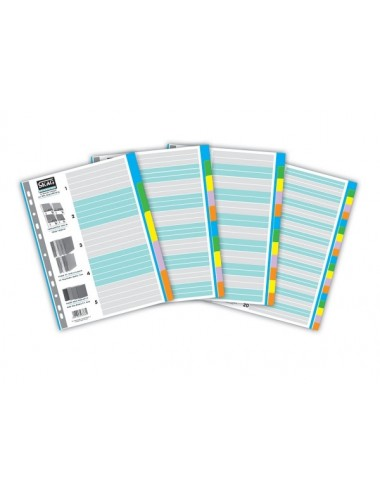 Skag Ευρετήριο Χρωματιστό (1-10) Χάρτινο 10 Φύλλα Α4