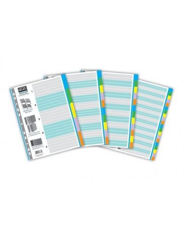 Skag Ευρετήριο Χρωματιστό (1-20) Χάρτινο 20 Φύλλα Α4
