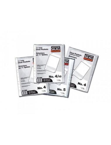Skag Διαφανή θήκες αρχειοθέτησης  Α4 0.10mm Ν.10 (100Τ)